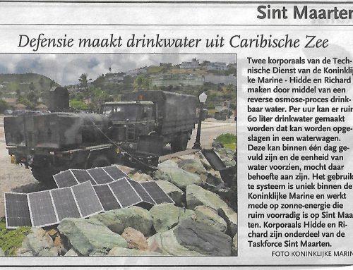 Defensie maakt drinkwater uit Caribische Zee